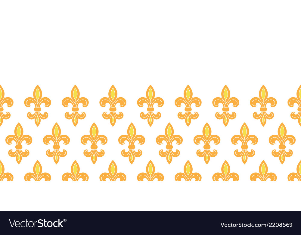 Golden lily horizontal seamless pattern background vector   Price: 1 Credit (USD $1)