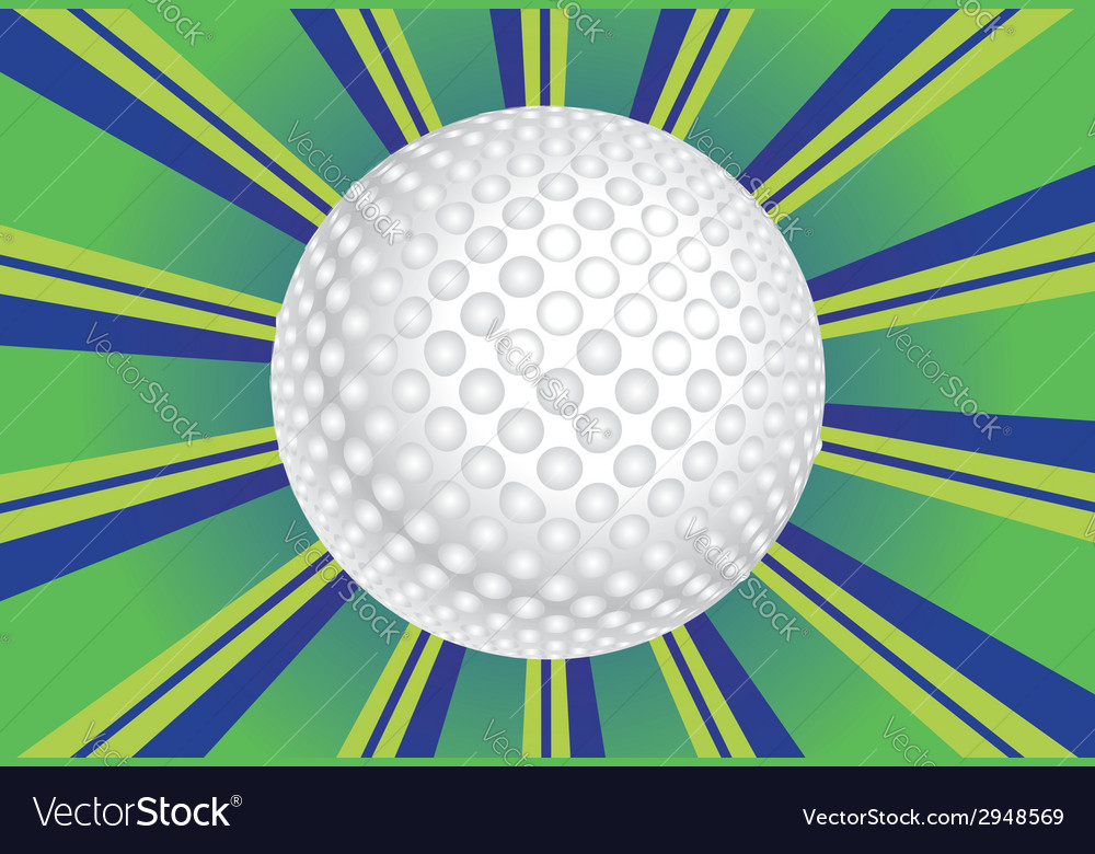 Golf ball background vector | Price: 1 Credit (USD $1)