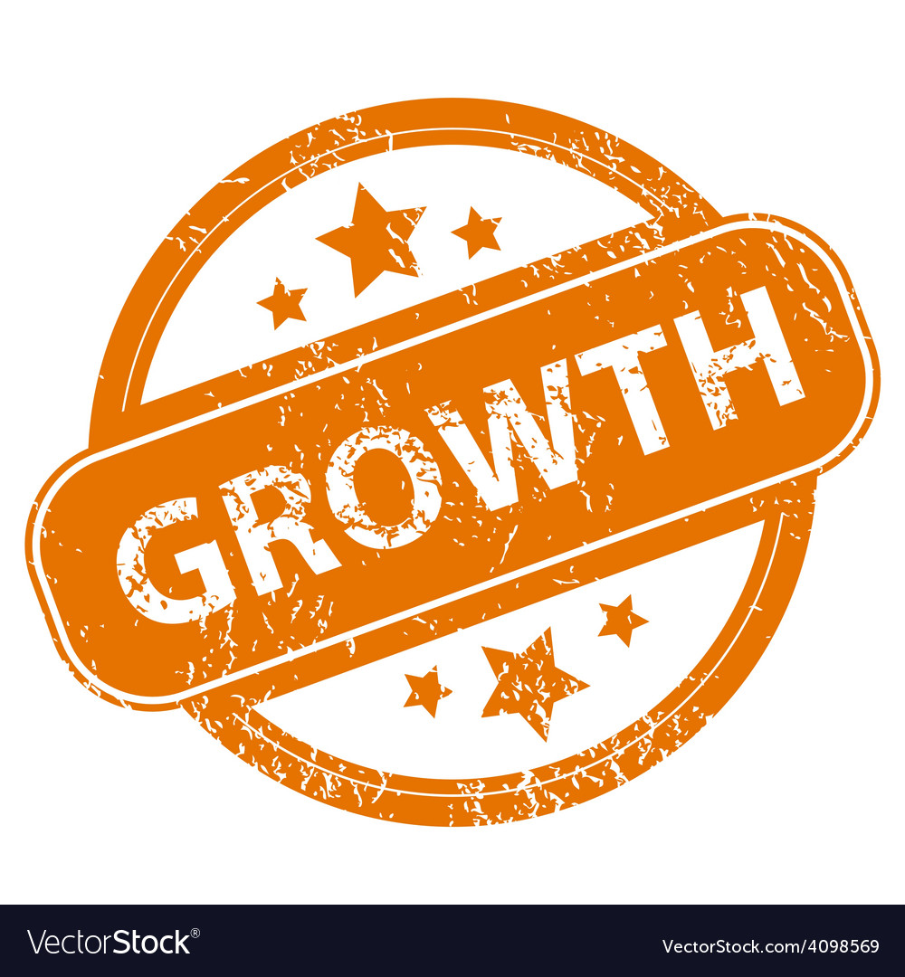 Growth grunge icon vector | Price: 1 Credit (USD $1)