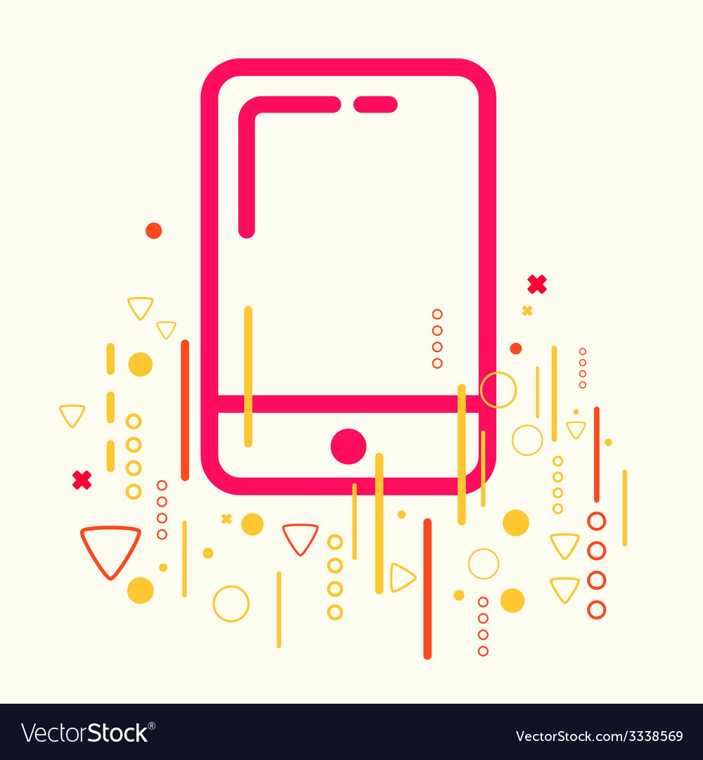 Mobile phone on abstract colorful geometric light vector   Price: 3 Credit (USD $3)