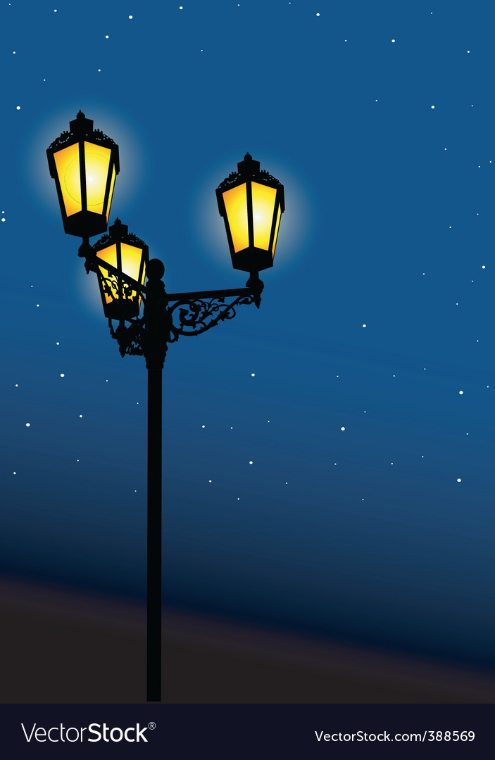 Old street lamp vector | Price: 1 Credit (USD $1)