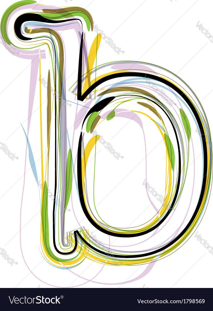 Organic font letter b vector | Price: 1 Credit (USD $1)