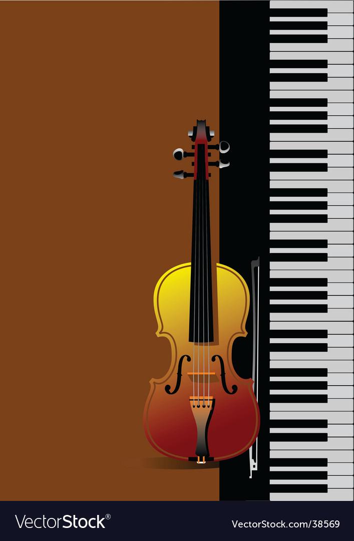 Piano with violin vector | Price: 1 Credit (USD $1)