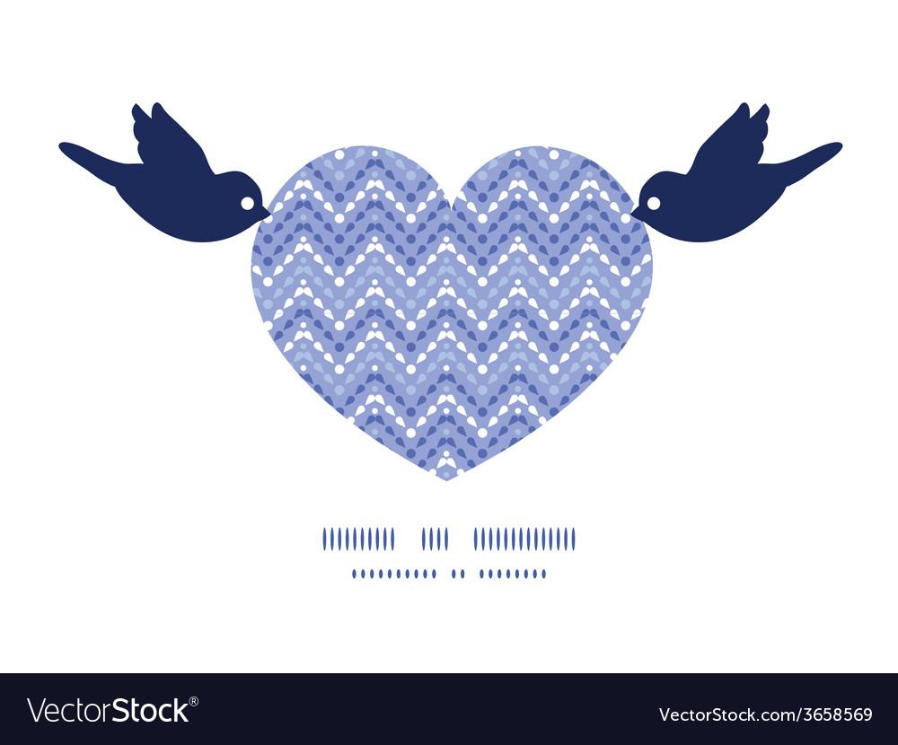 Purple drops chevron birds holding heart vector | Price: 1 Credit (USD $1)