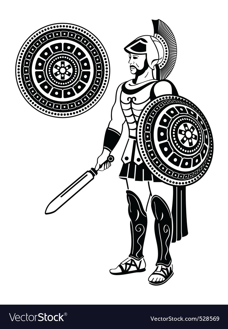 Roman warrior vector | Price: 1 Credit (USD $1)