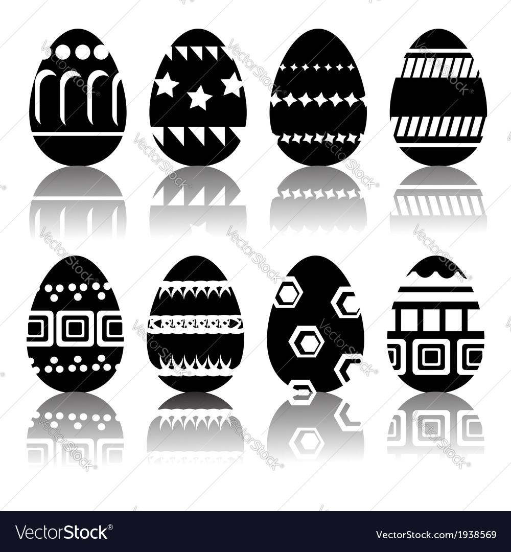 Silhouettes of easter eggs vector | Price: 1 Credit (USD $1)