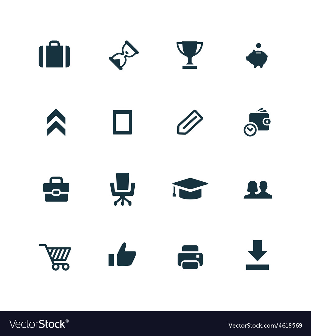 Startup icons set vector | Price: 1 Credit (USD $1)