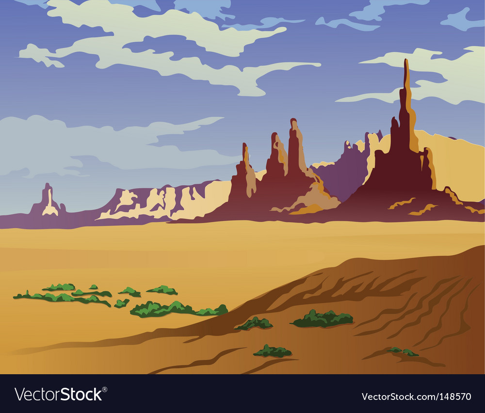 Arizona landscape vector | Price: 1 Credit (USD $1)