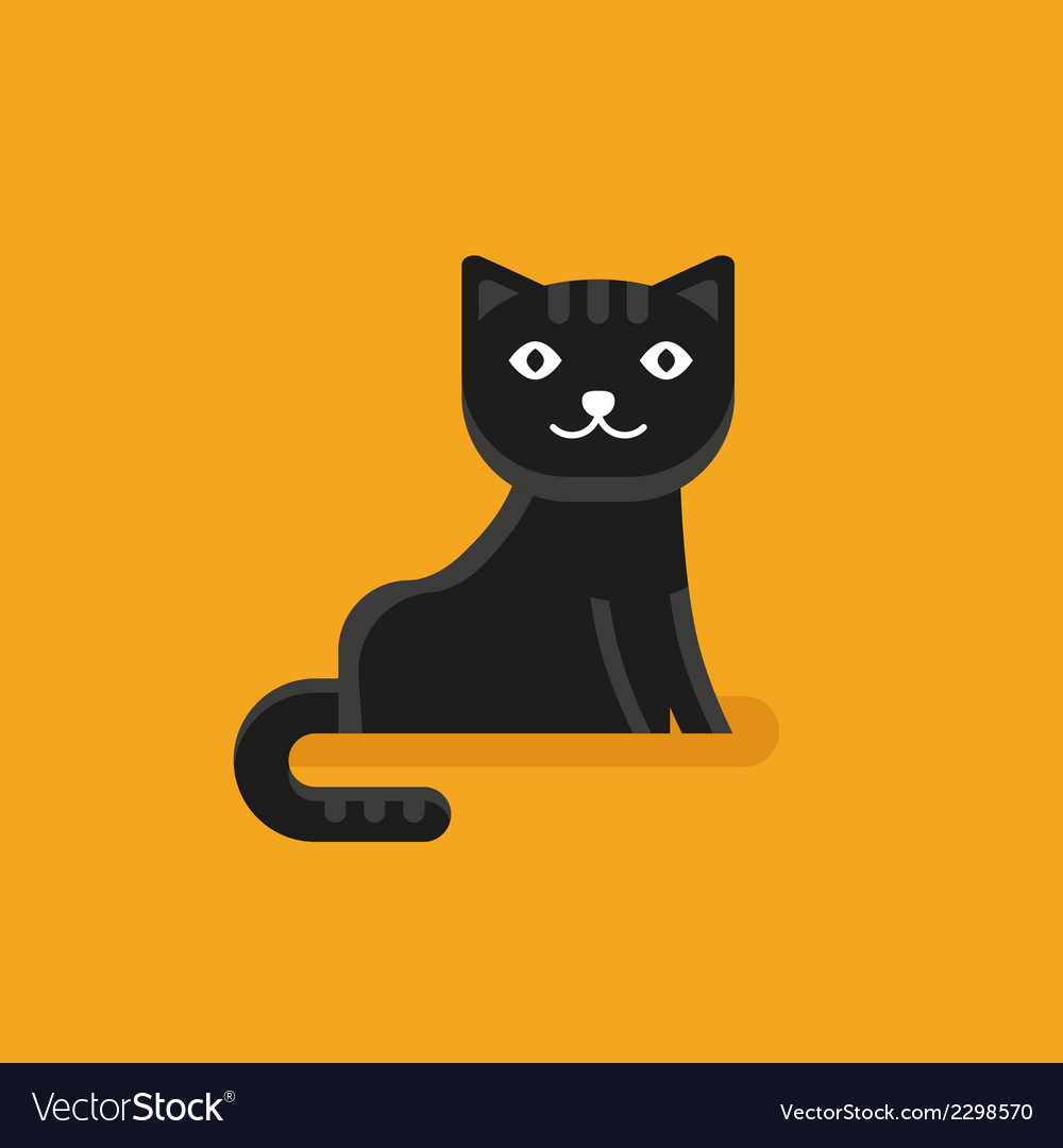 Cat icon in flat style vector   Price: 1 Credit (USD $1)