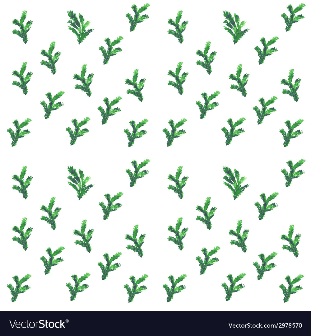Christmas tree brunches seamless pattern vector | Price: 1 Credit (USD $1)