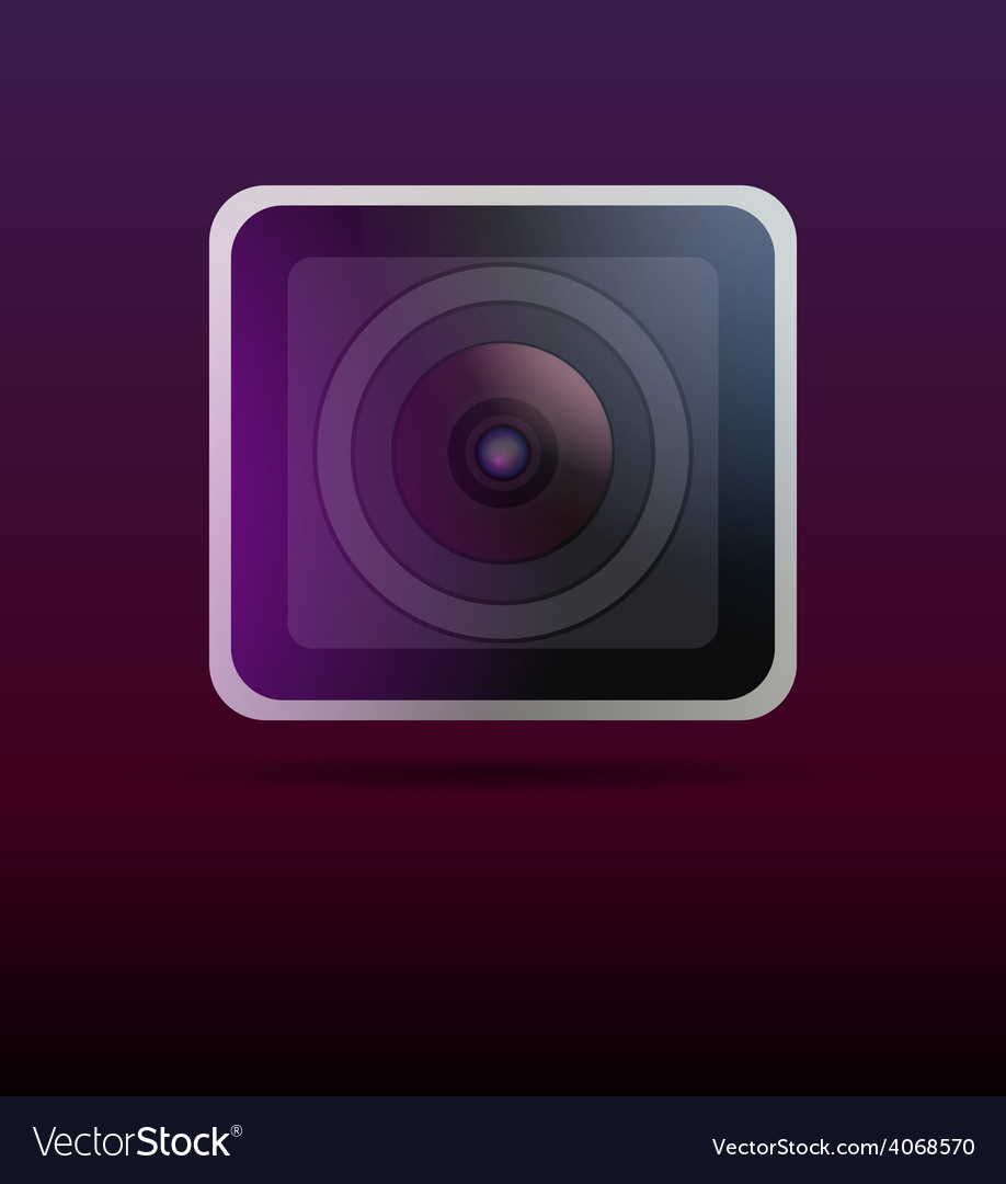 Close up image of a camera lens vector | Price: 1 Credit (USD $1)