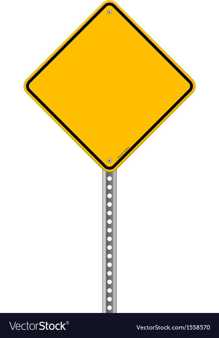 Empty yellow sign vector | Price: 1 Credit (USD $1)