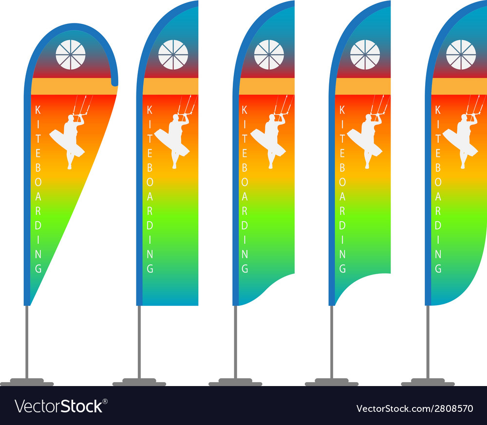 Kite flag vector | Price: 1 Credit (USD $1)