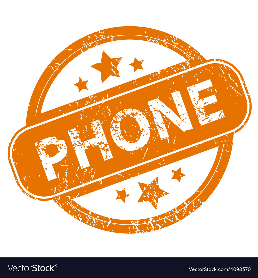 Phone grunge icon vector | Price: 1 Credit (USD $1)
