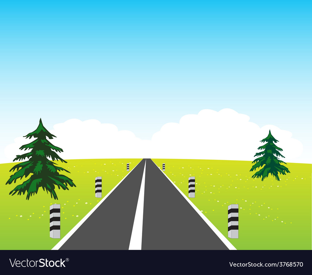 Road in field vector | Price: 1 Credit (USD $1)
