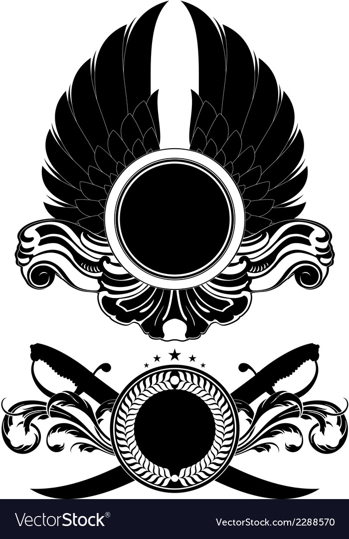 Set of ornamental shields vector | Price: 1 Credit (USD $1)
