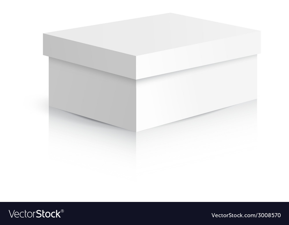 White gift carton box vector | Price: 1 Credit (USD $1)