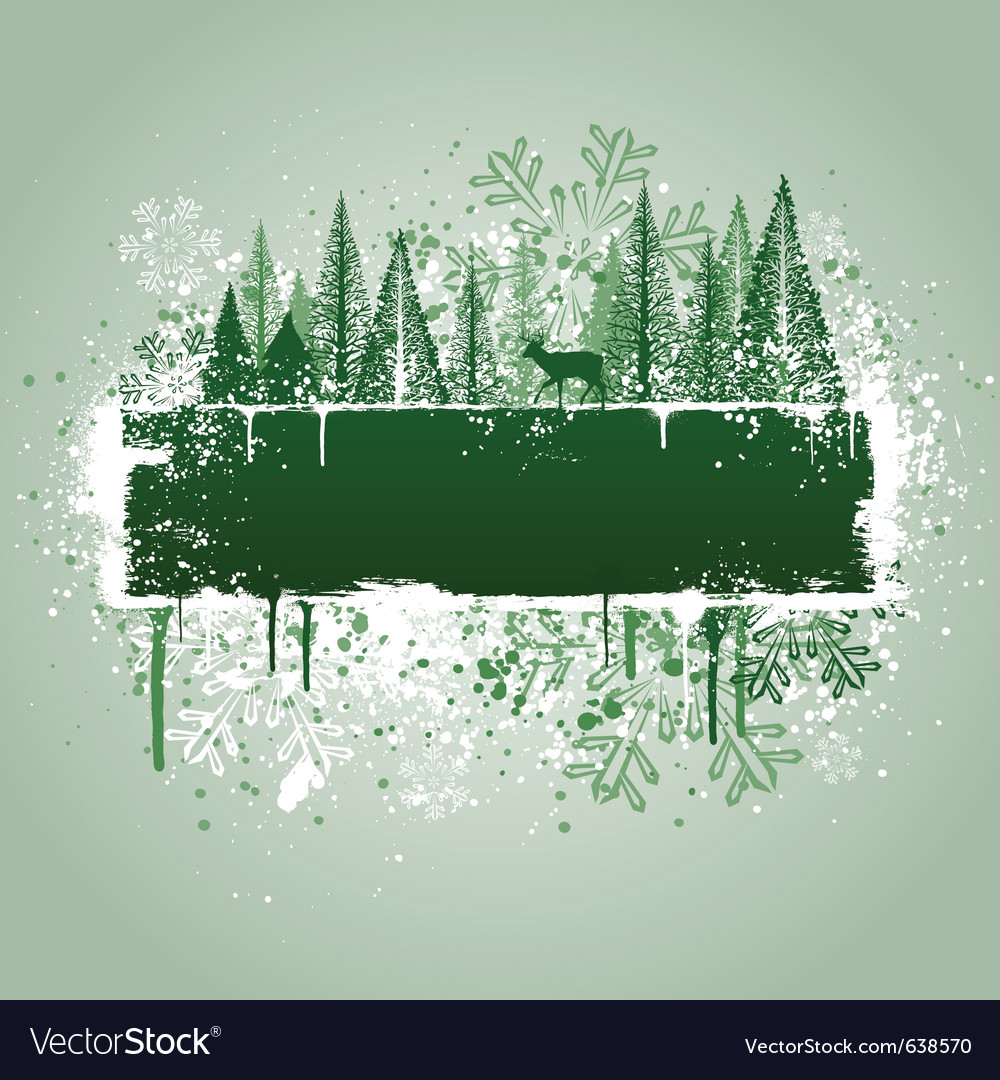 Winter forrest grunge vector | Price: 1 Credit (USD $1)
