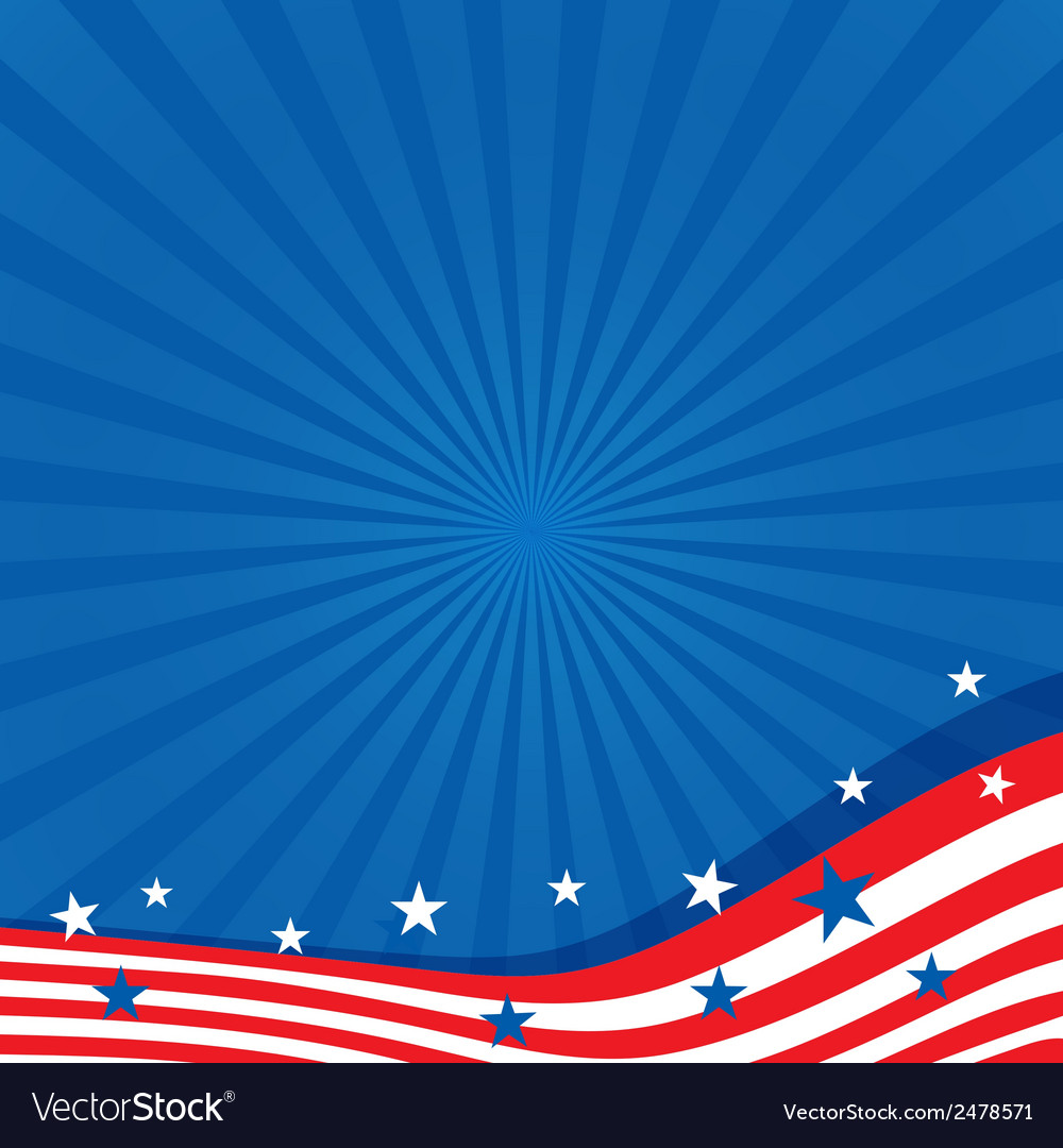 Background in colors of the american flag vector | Price: 1 Credit (USD $1)