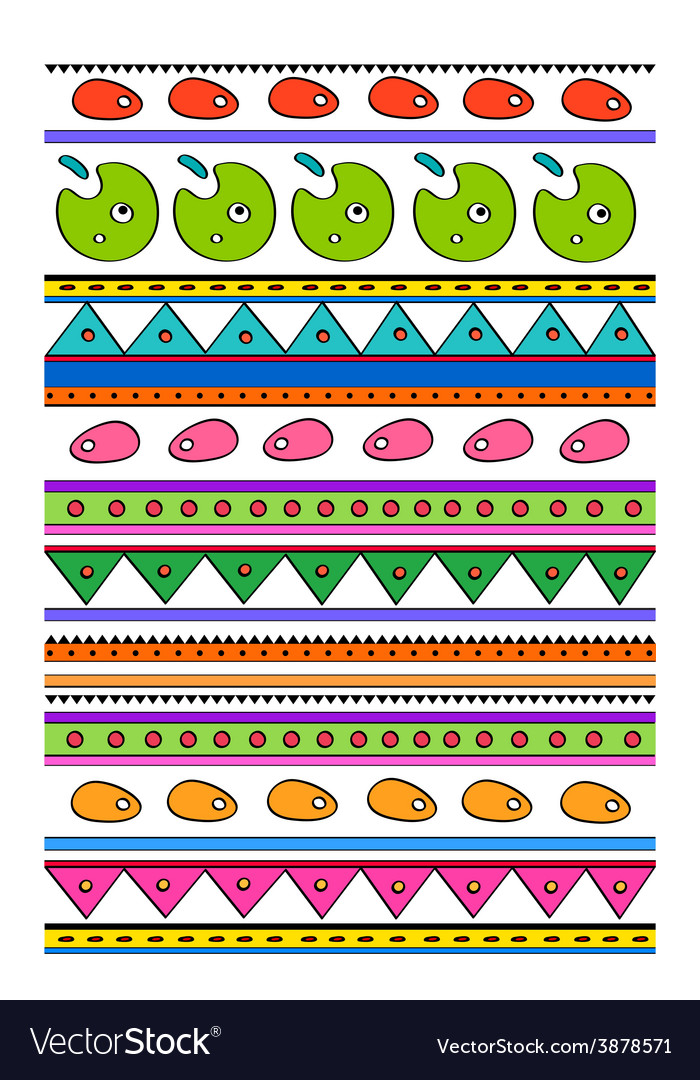 Childish pattern vector | Price: 1 Credit (USD $1)