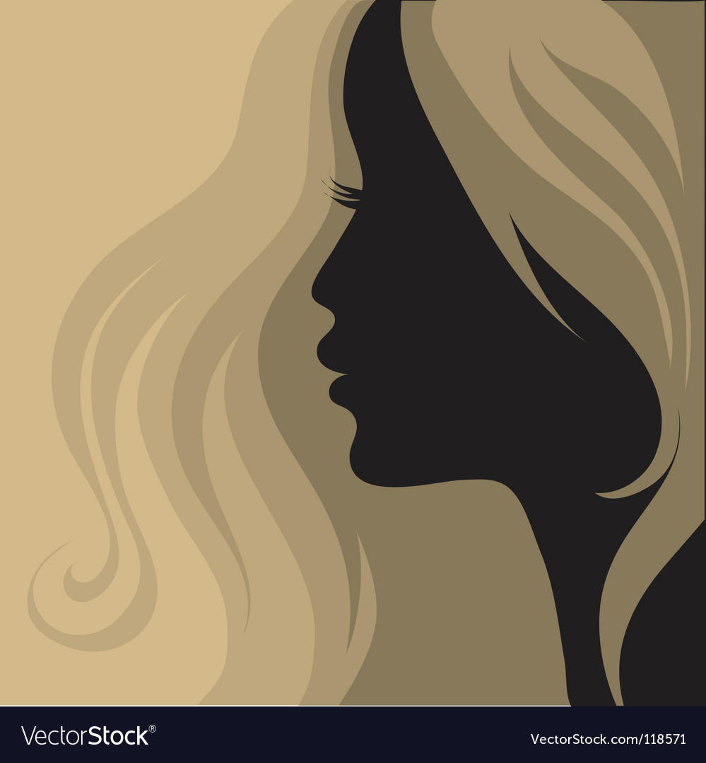 Closeup vintage woman vector | Price: 1 Credit (USD $1)