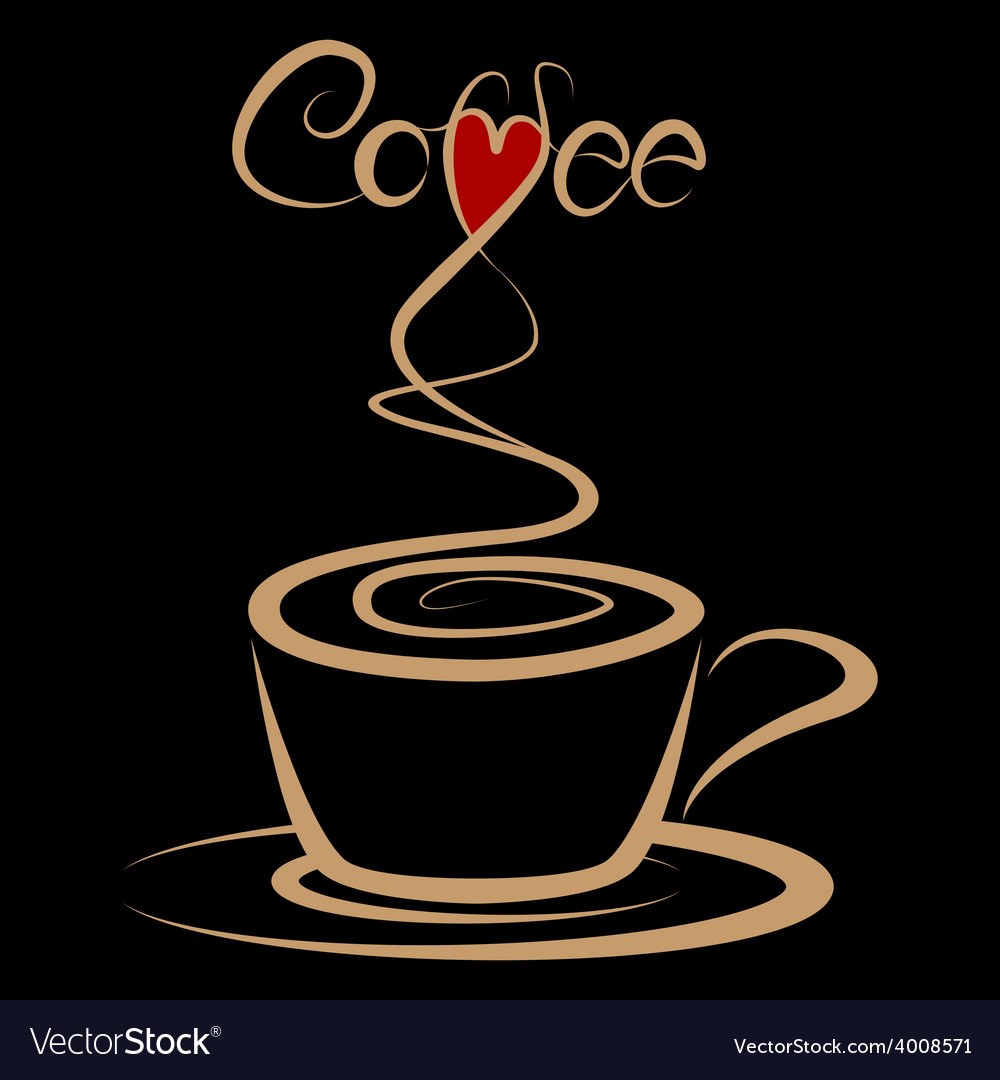 Coffee love vector | Price: 1 Credit (USD $1)