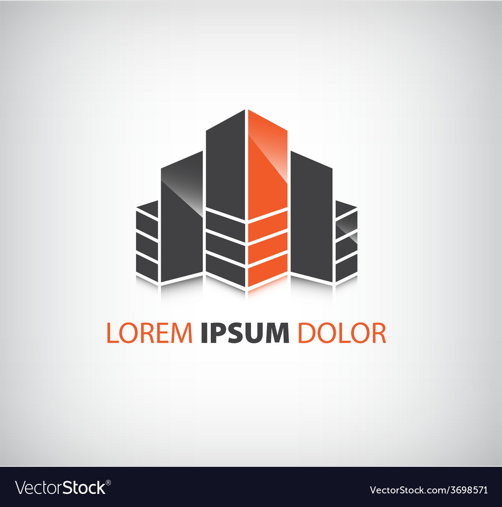 Office builing icon logo isolated vector | Price: 1 Credit (USD $1)
