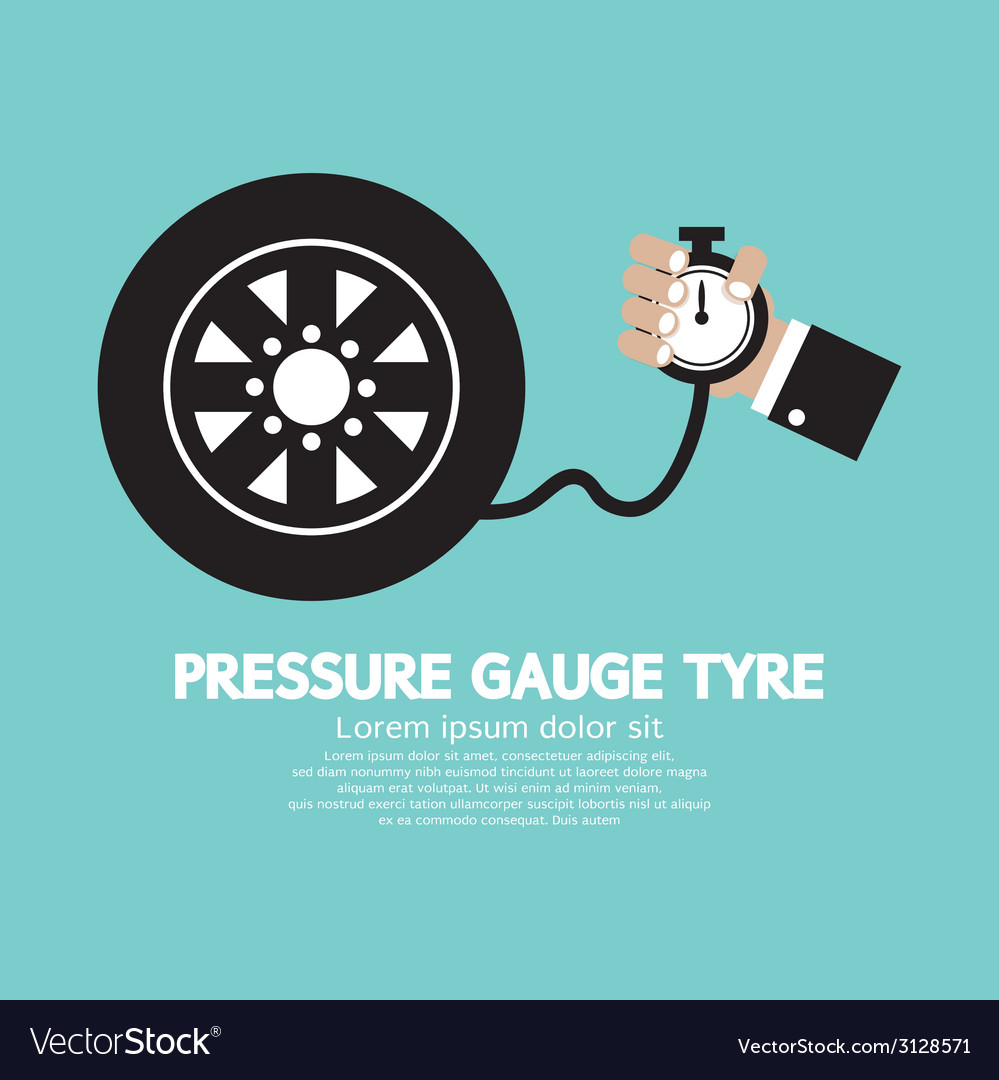 Pressure gauge tyre vector | Price: 1 Credit (USD $1)