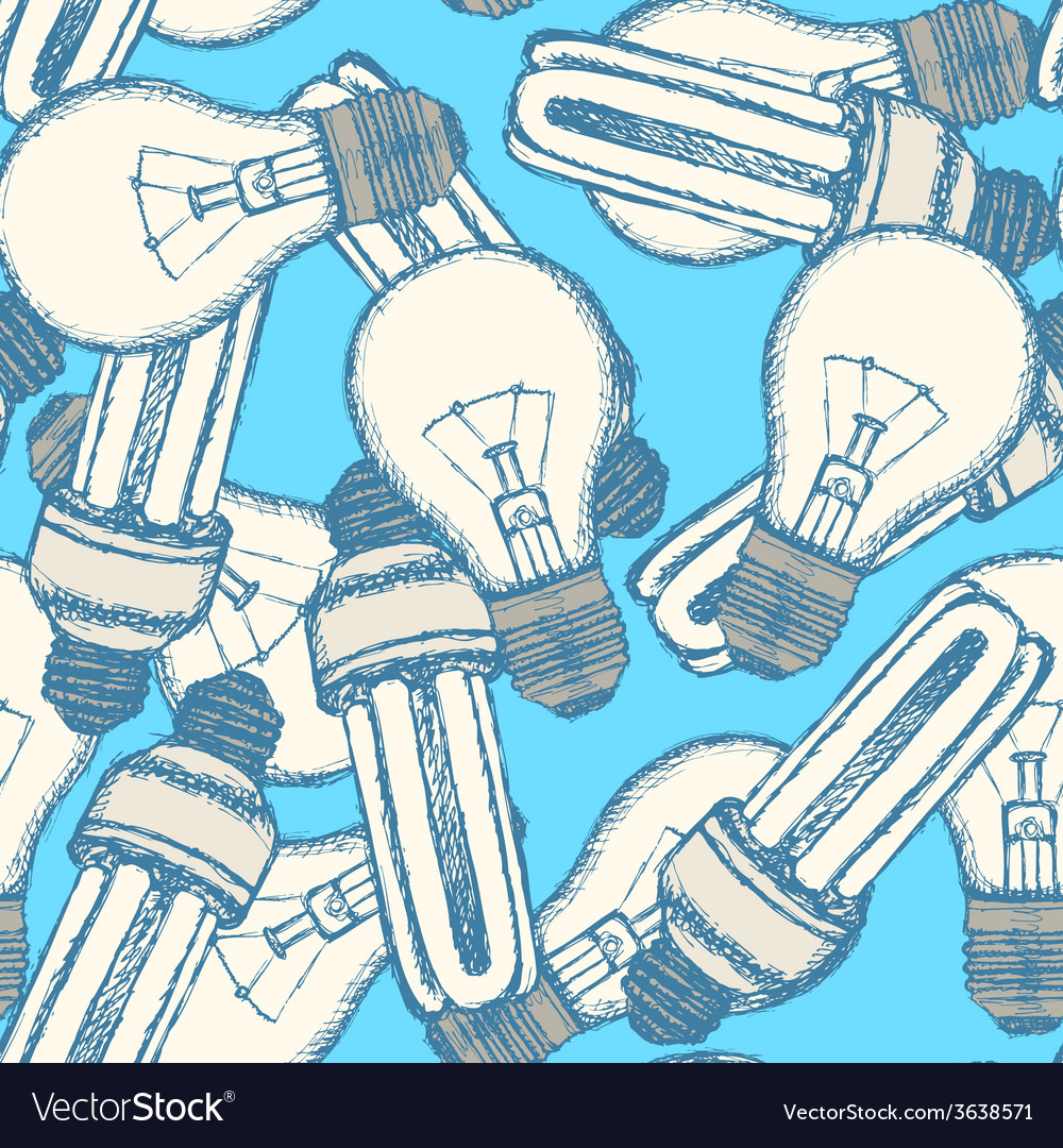Sketch light bulbs in vintage style vector | Price: 1 Credit (USD $1)