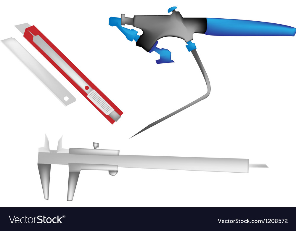 Airbrush caliper and paper knife vector | Price: 1 Credit (USD $1)