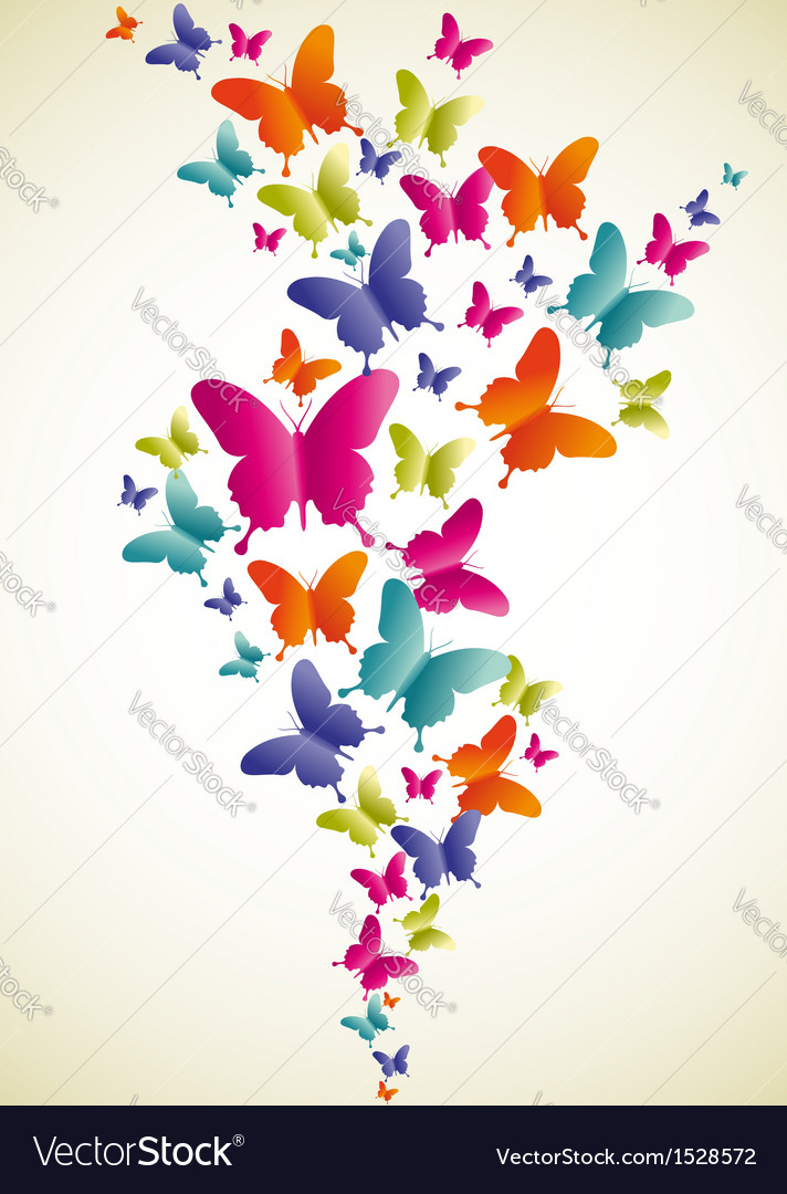 Butterfly colorful splash vector | Price: 1 Credit (USD $1)