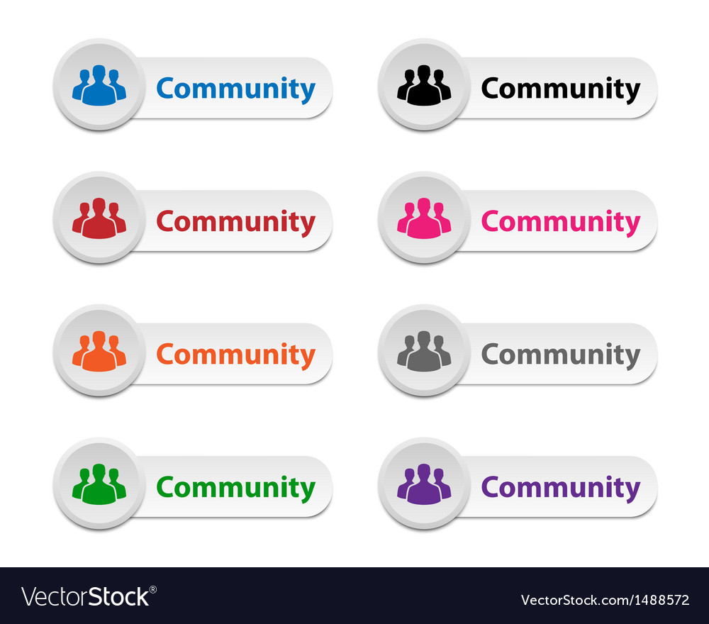 Community buttons vector | Price: 1 Credit (USD $1)