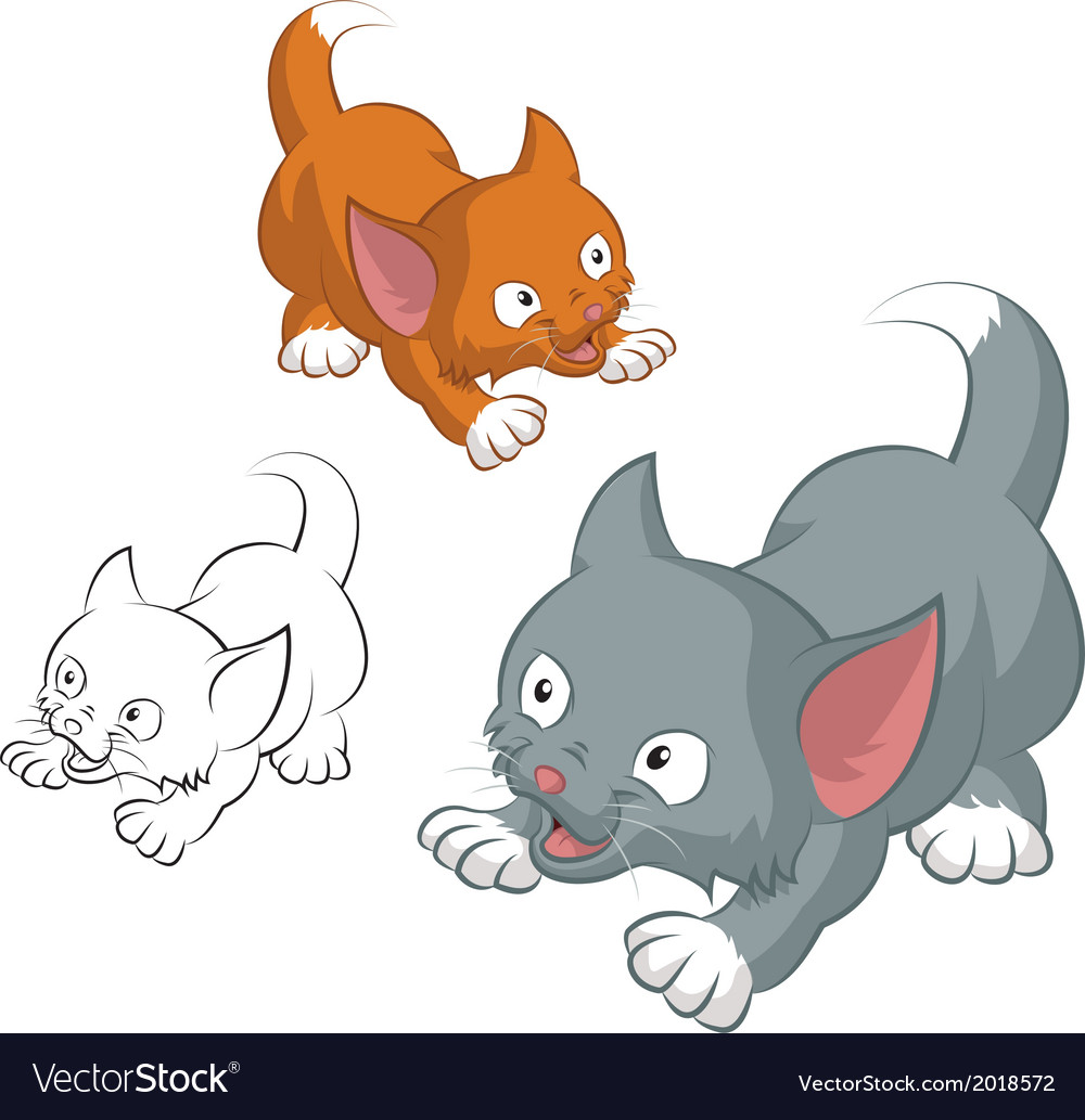 Funny cat vector | Price: 1 Credit (USD $1)