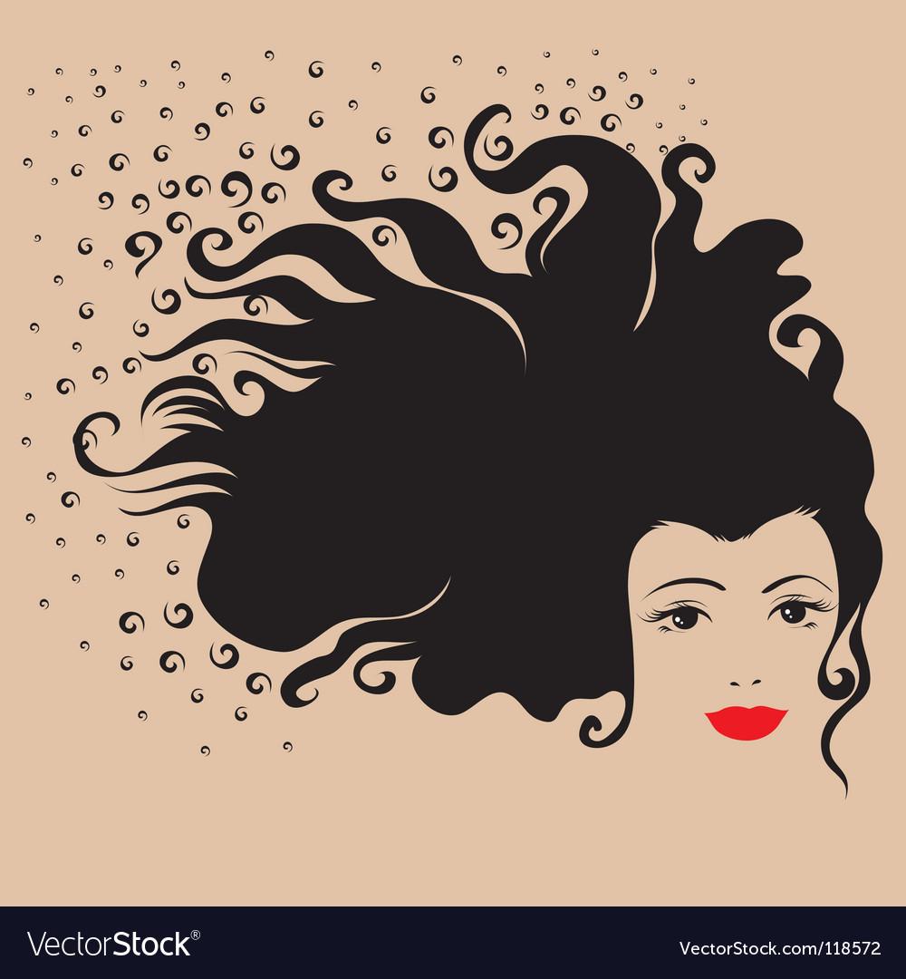 Girl hair vector