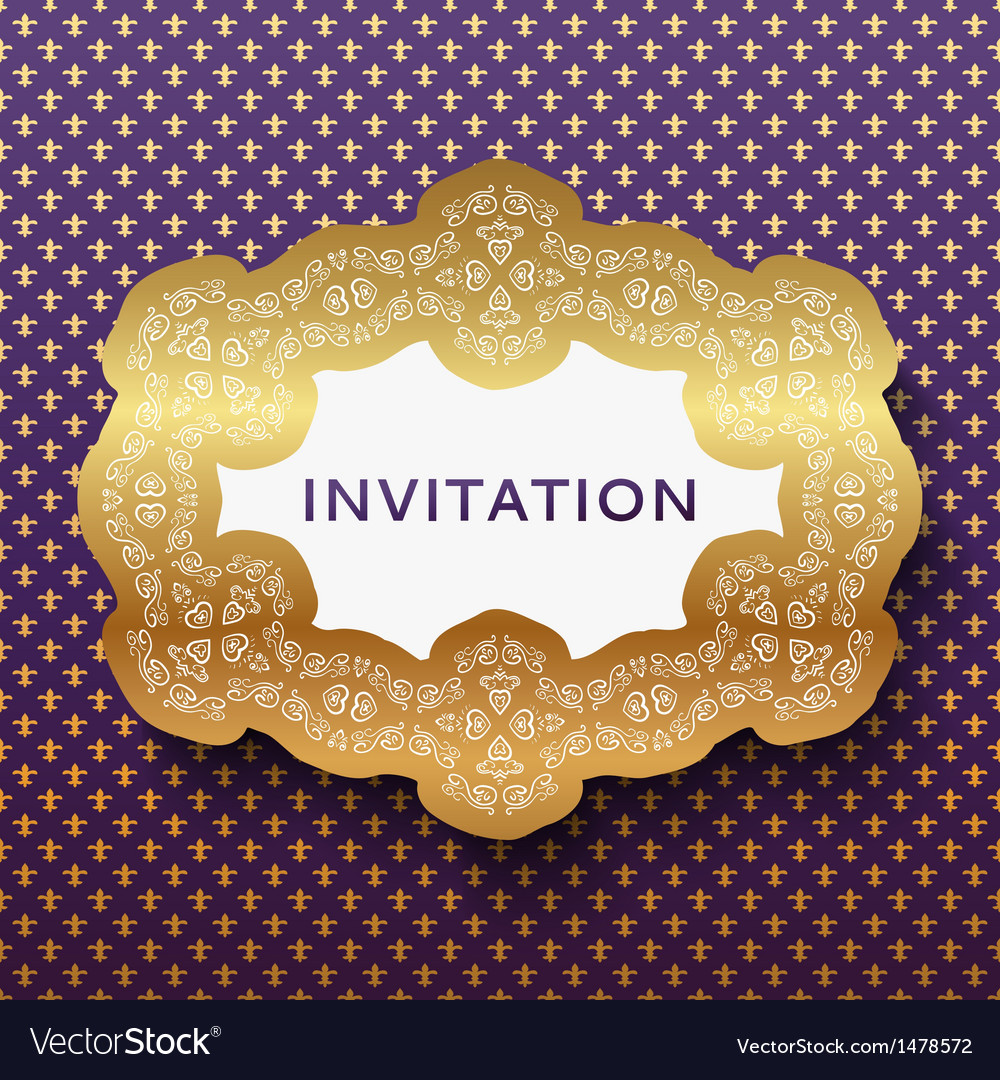Invitation card vintage background with place for vector | Price: 1 Credit (USD $1)
