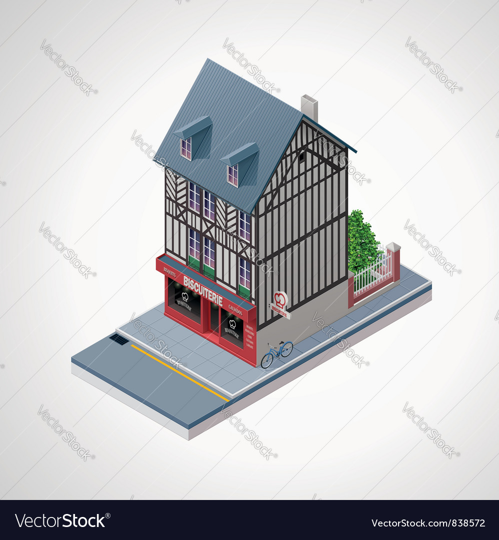 Isometric french cakes vector | Price: 3 Credit (USD $3)