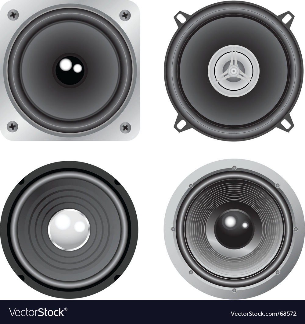 Loudspeakers vector | Price: 1 Credit (USD $1)