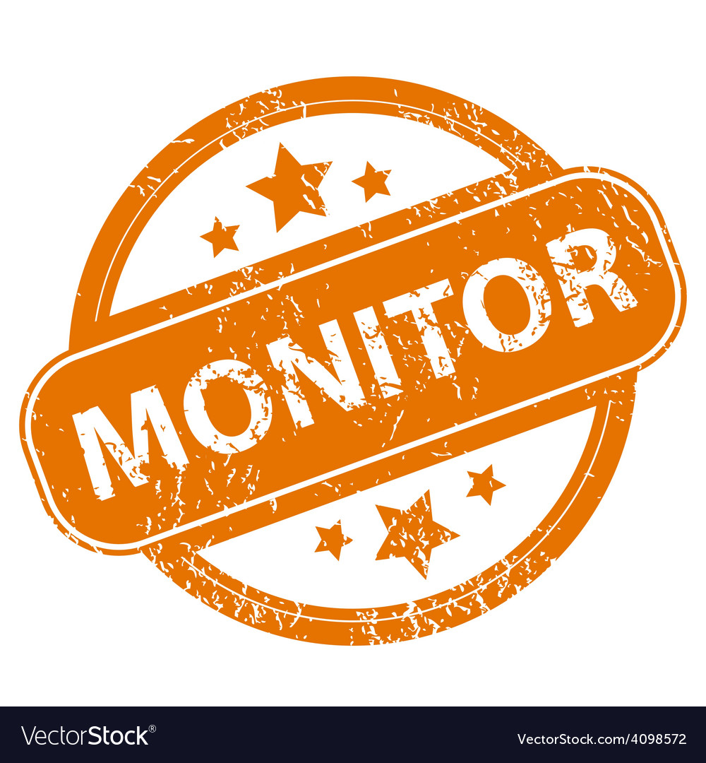 Monitor grunge icon vector | Price: 1 Credit (USD $1)