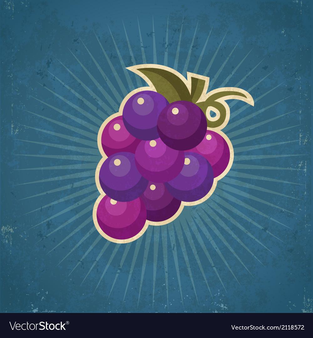 Retro grape vector