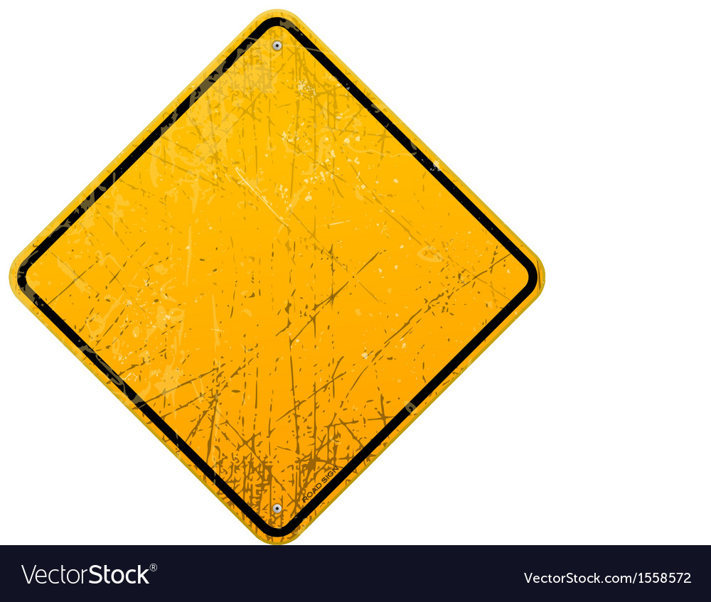 Rusty yellow sign vector | Price: 1 Credit (USD $1)