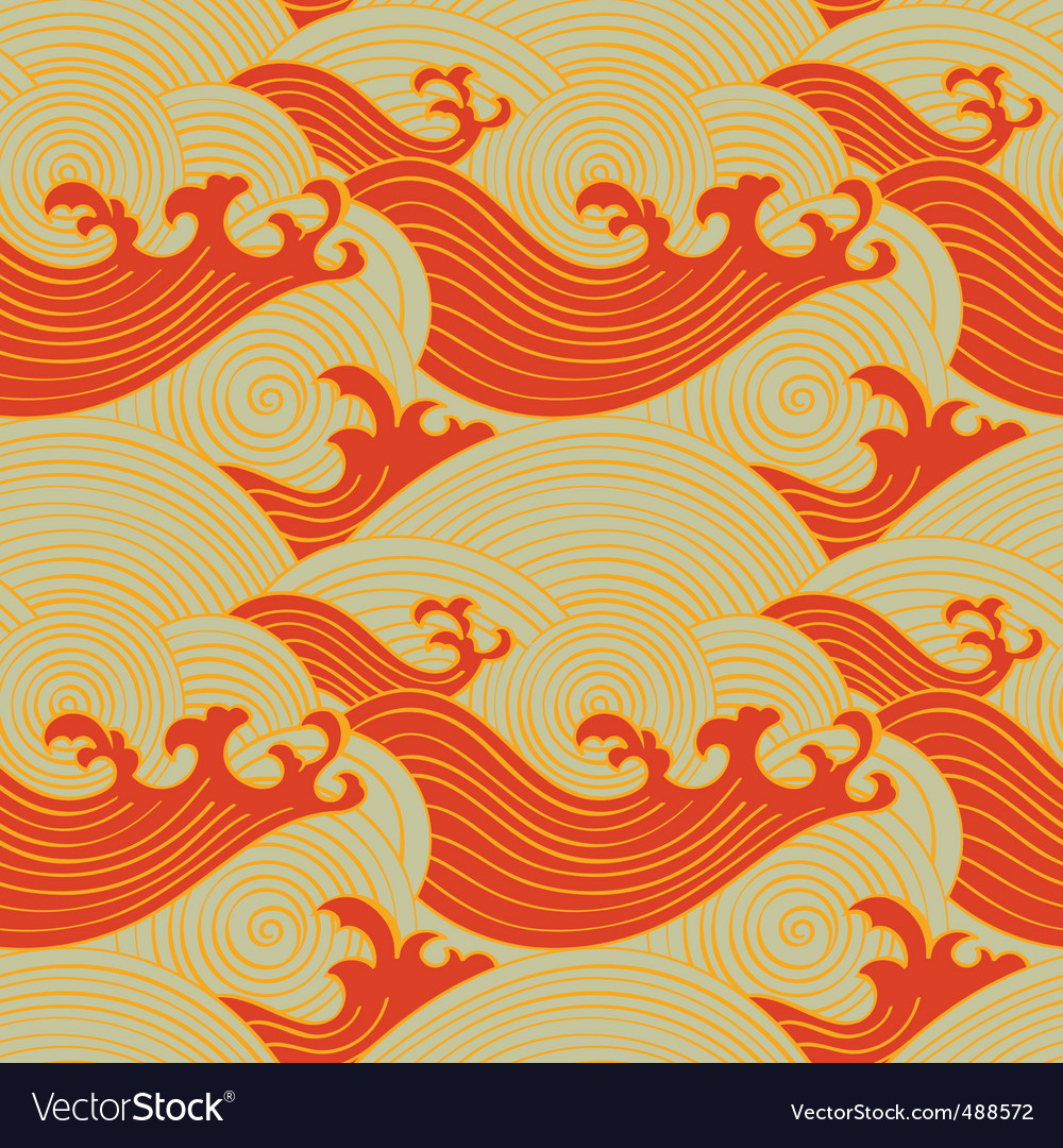 Seamless waves vector | Price: 1 Credit (USD $1)