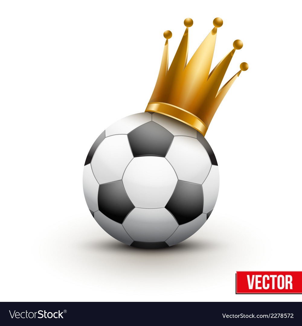 Soccer ball with royal crown of princess vector | Price: 1 Credit (USD $1)