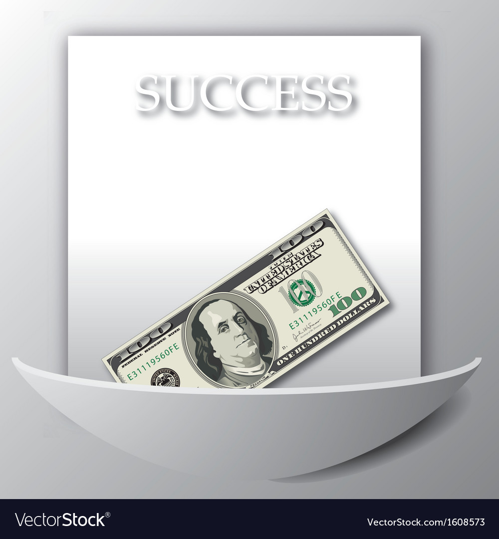 A success background with a 100 dollar bil vector | Price: 1 Credit (USD $1)