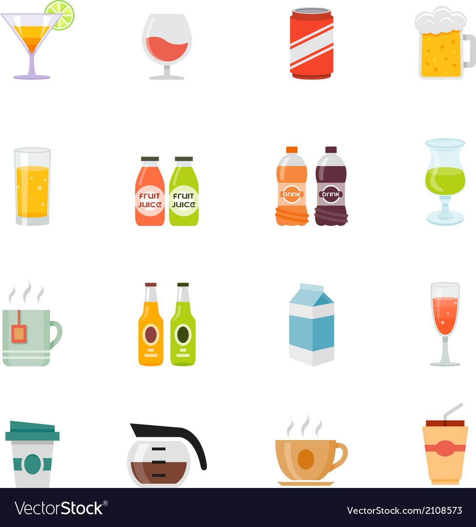 Beverage icon full color flat icon design vector | Price: 1 Credit (USD $1)