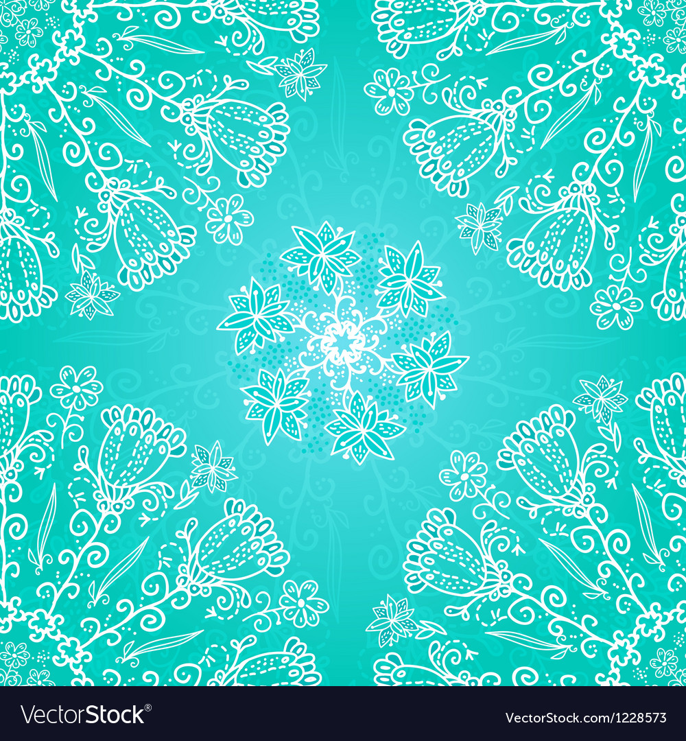 Blue floral ornament background vector | Price: 1 Credit (USD $1)