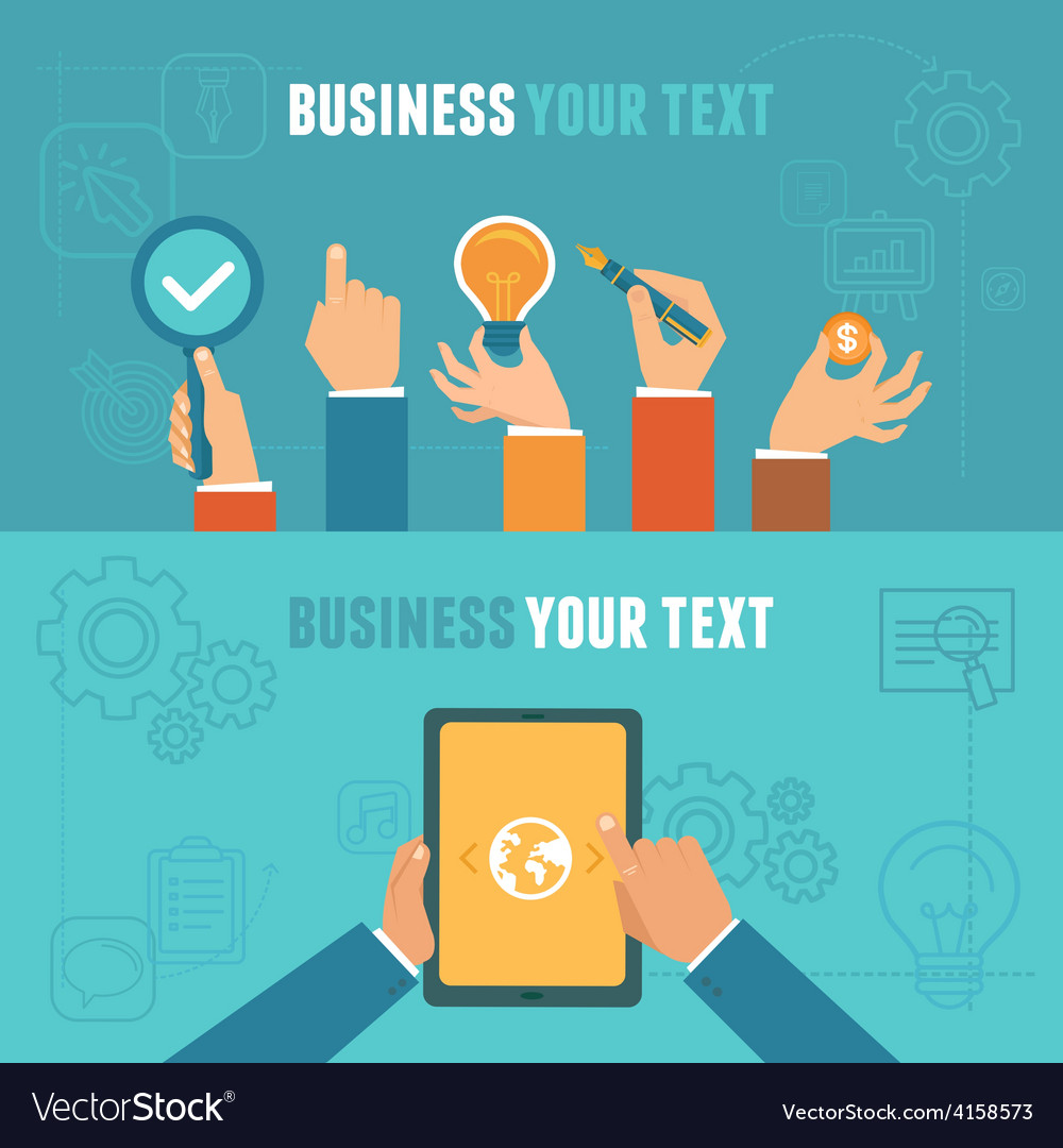 Business concepts in flat style vector | Price: 1 Credit (USD $1)
