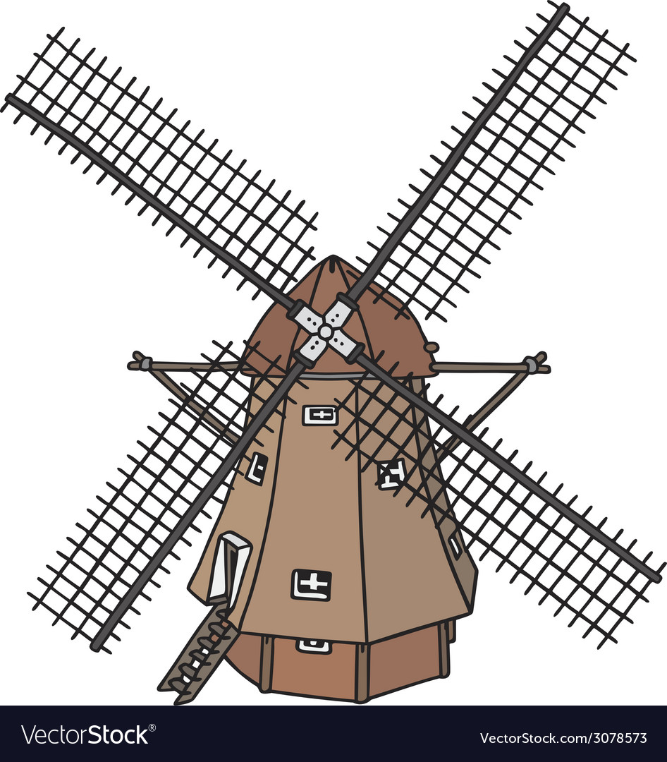 Dutch windmill vector | Price: 1 Credit (USD $1)