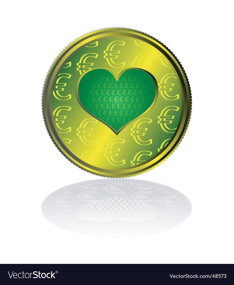 Euro heart vector | Price: 1 Credit (USD $1)