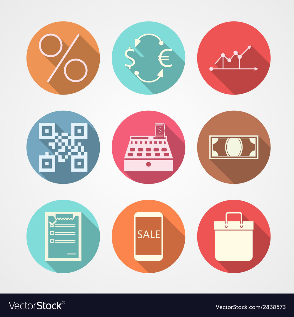 Flat icons for e-commerce vector | Price: 1 Credit (USD $1)
