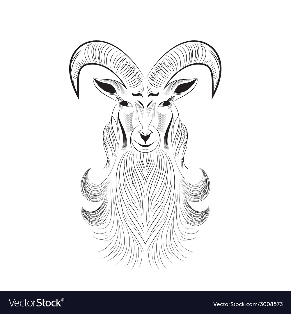 Goat tattoo vector | Price: 1 Credit (USD $1)